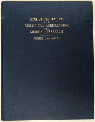 9780582445253: Statistical Tables for Biological, Agricultural and Medical Research