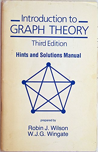 9780582447035: Introduction to Graph Theory: Hints & Solutions Manual