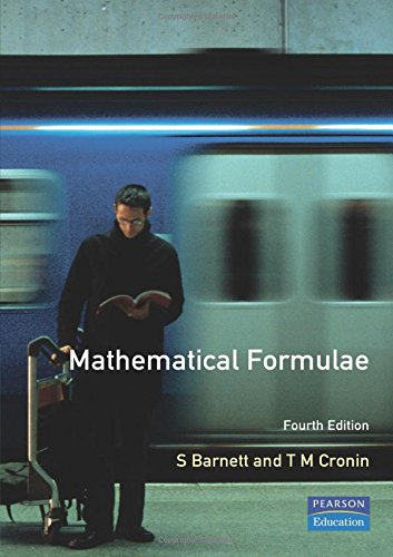 Mathematical Formulae: for Engineering and Science Students