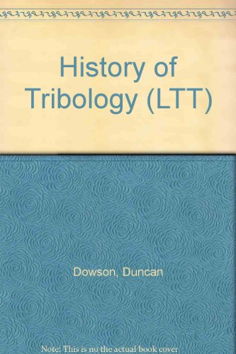 9780582447660: History of Tribology