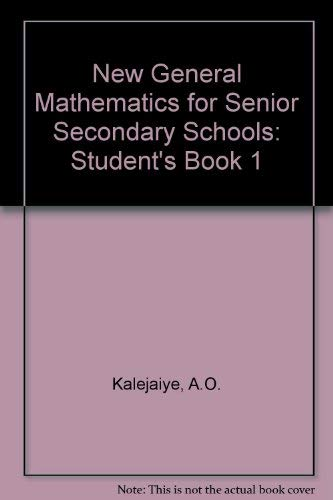 9780582447677: New General Mathematics for Senior Secondary Schools