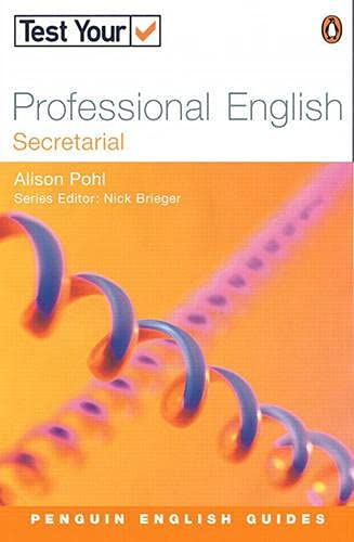 9780582451629: Test Your Professional English - Secretarial (Penguin Joint Venture Readers)