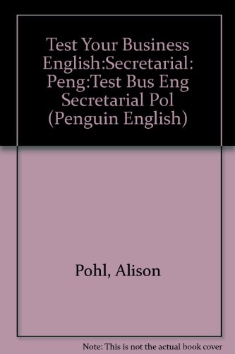 9780582461161: Test Your Business English:Secretarial CEE Edition