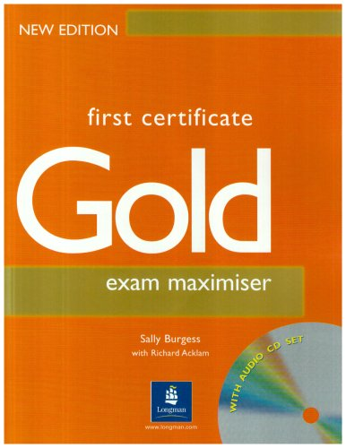 9780582461291: First Certificate Gold Maximiser No Key and CD New Edition Maximiser No Key and CD: Exam Maximiser (Without Key) & CD