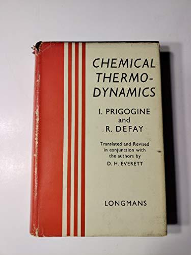 9780582462830: Chemical Thermodynamics