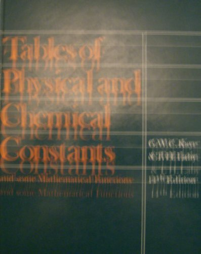 9780582463264: Tables of physical and chemical constants and some mathematical functions;