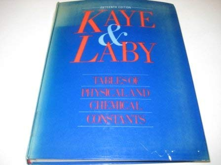 9780582463547: Tables of Physical and Chemical Constants