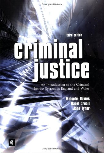 9780582473201: Criminal Justice: An Introduction To The Criminal Justice System In England And Wales