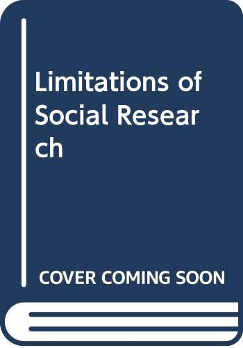 9780582480490: Limitations of Social Research (Aspects of Modern Sociology: Social Research)