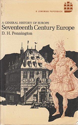 9780582483125: Seventeenth Century Europe (General History of Europe)