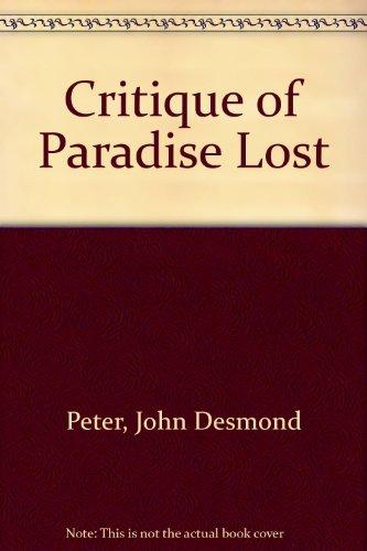 "9780582484702: Critique of ""Paradise Lost"""