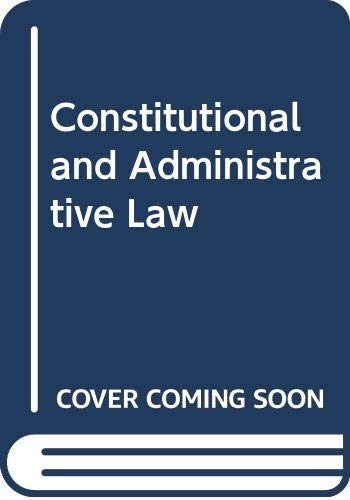 9780582488274: Constitutional and Administrative Law