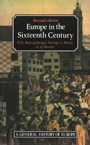 9780582493902: Europe in the Sixteenth Century (General History of Europe)