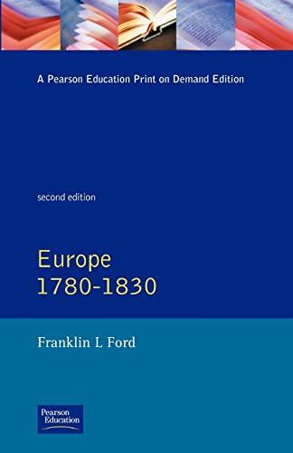 9780582493926: Europe 1780 - 1830 (General History of Europe)