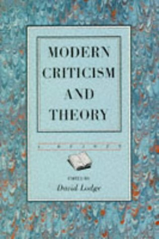 Modern Criticism and Theory: A Reader