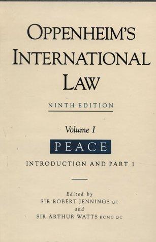 9780582501089: International Law: Vol.1