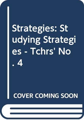9780582516861: Strategies: Studying Strategies - Tchrs' No. 4