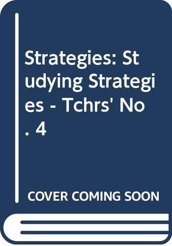 9780582516861: STUDYING STRATEGIES PROF: Studying Strategies - Tchrs' No. 4 (Stratégies)
