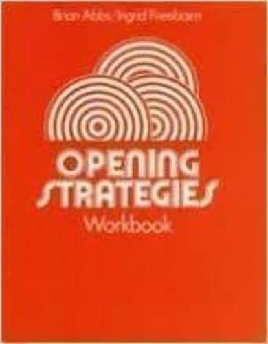 9780582516892: Opening Strategies Workbook (No. 5)