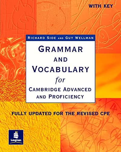 9780582518216: Grammar & Vocabulary CAE & CPE Workbook With Key New Edition (Grammar and Vocabulary)