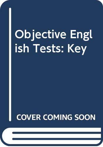 9780582521445: Objective English Tests: Key