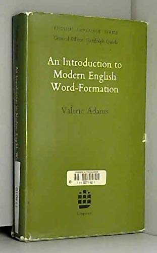 9780582521940: An Introduction to Modern English Word Formation