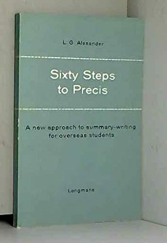 9780582523098: Sixty Steps to Precis