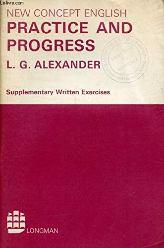 9780582523340: Practice and Progress: Suppty. Written Exercises (New Concept English)