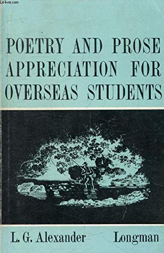 9780582523845: Poetry and Prose Appreciation for Overseas Students