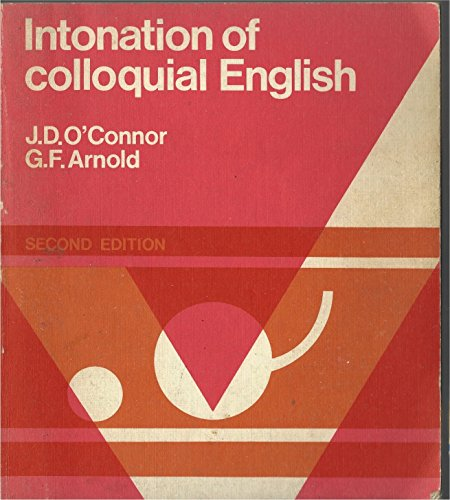 9780582523890: Intonation of Colloquial English