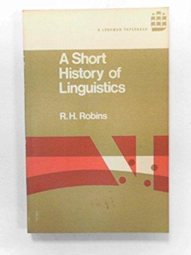 9780582523975: Short History of Linguistics (Linguistics Library)