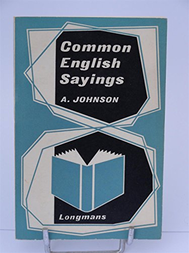 9780582524262: Common English Sayings