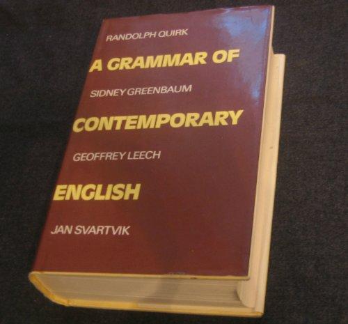 9780582524446: A Grammar of contemporary English (Grastr)