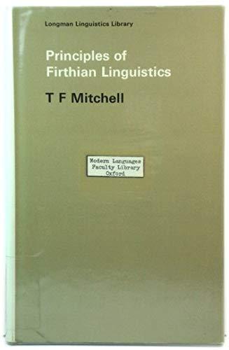 9780582524552: Principles of Firthian Linguistics (Longman linguistics library)