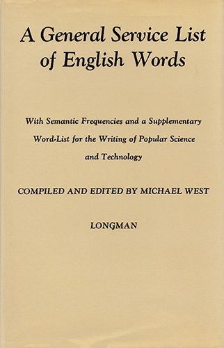 9780582525269: A General Service List of English Words