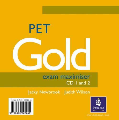 9780582529281: PET Gold Exam Maximiser CD 1-2