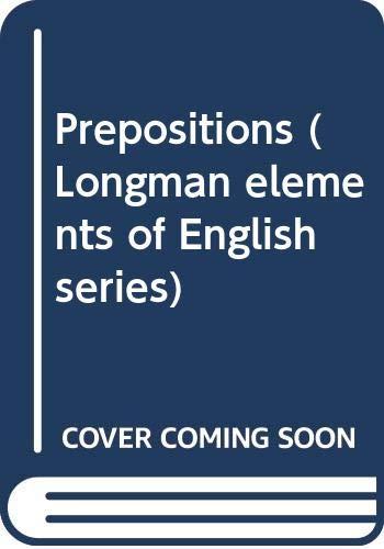 9780582531321: Prepositions