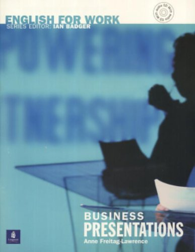 9780582539624: English for Work: Business Presentations: Book and Audio CD (General Professional English)
