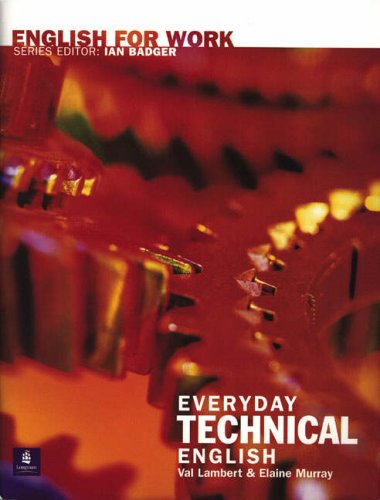 9780582539655: English For Work: Everyday Technical English Book/CD Pack CD and Book