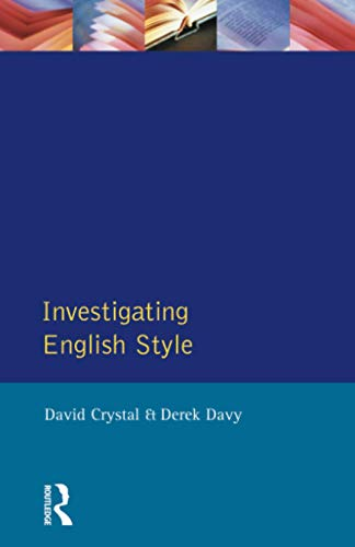 9780582550117: Investigating English Style