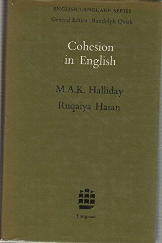 9780582550315: Cohesion in English (English Language Series)