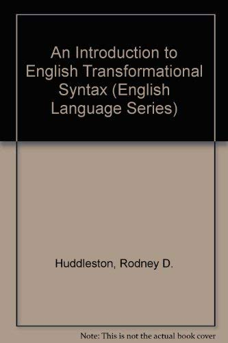 An Introduction to English Transformational Syntax.