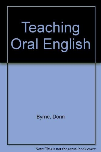 9780582550810: Teaching Oral English
