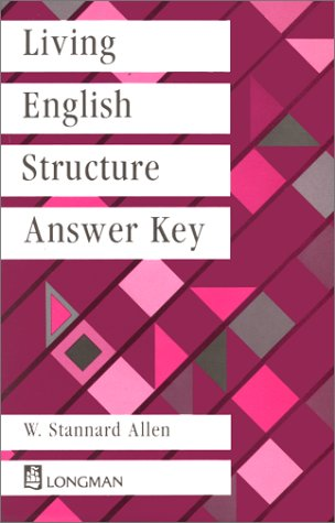 9780582552043: Living English Structure: Key to Exercises (Livengstr)
