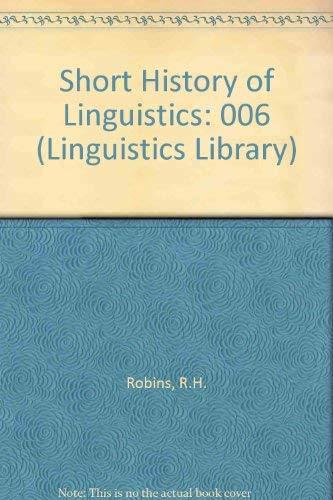 9780582552890: A Short History of Linguistics (Linguistics Library)