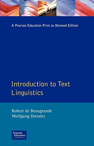 9780582554856: Introduction to Text Linguistics (Longman Linguistics Library)