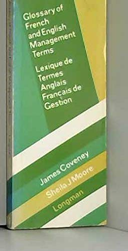 Glossary of French and English Management Terms (MG): Coveney, James