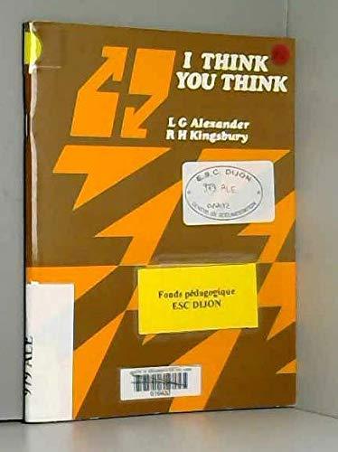 9780582555105: I Think, You Think