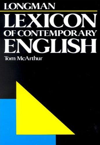 9780582555273: Longman Lexicon of Contemporary English