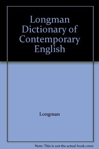 9780582556348: Longman Dictionary of Contemporary English